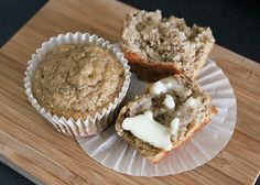 Banana Applesauce Muffins. I make these in mini muffin tins for easy snacks for the kids. Could easily cut back the sugar.
