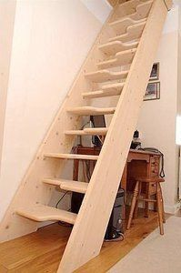 Free standing, one direction, tight spaces, would need wall railing, (not a fan of those specific the steps)
