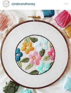 Cinder and honey embroidery