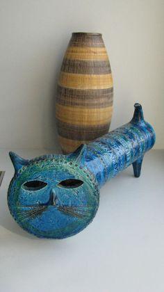 Альдо Londi Римини голубой керамической Кот изображение 6