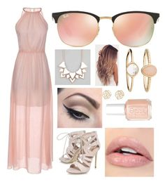 """Untitled #828"" by aneesakhan02 ❤ liked on Polyvore featuring Carvela, Mehron, Essie, Ray-Ban, Full Tilt, Accessorize and Charlotte Russe"