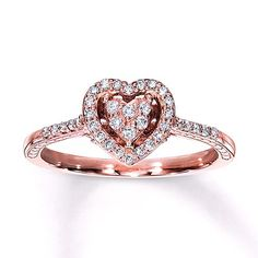 Rose gold 10K Promise ring. Kay Jewelers.