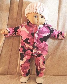 Homemade Doll Clothes-Turquoise//White Camo Print Shirt that fits Ken Doll B1