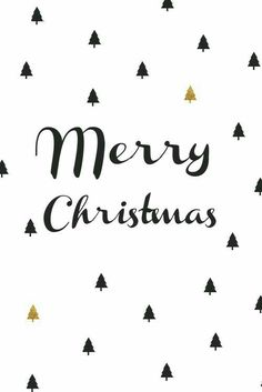 Merry Christmas - Gold and Black