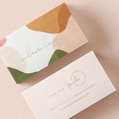 Marli Venter designed these business cards for Lara Lord, a jewelry designer who uses gemstones and earthly treasures in her handmade jewelry. #businesscards #branding #typography #graphicdesign