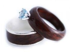 Wooden engagement rings-different, but i like it!