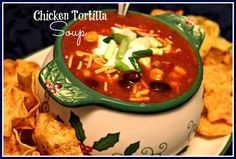 Sweet Tea and Cornbread: Slow Cooker Chicken Tortilla Soup!