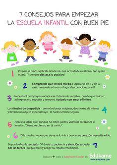 7 consejos para comenzar la educación infantil con buen pie #infografia #infographic #education