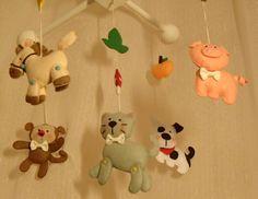 Раннее развитие, Детские кроватки, Декор детской, Мобиль на кроватку, Украшение для кроватки, Развивающая игрушка (можно выбрать свои цвета) by NashaDetka on Etsy