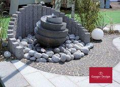 Granit Gartenbrunnen Set Cassandra