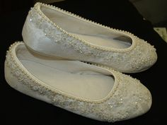 Ivory Flat Shoes For Wedding