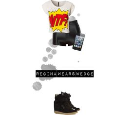 """""""Regina Wears Wedge"""" by reginaevangelista on Polyvore Bart Simpson, Ootd, Wedges, Casual, Polyvore, Movie Posters, How To Wear, Fictional Characters, Style"""