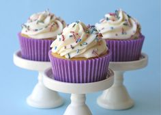 Perfect vanilla cupcake recipe however this required cake flour which we don't have but can be substituted by combining 1 part cornflour with 3 parts plain flour