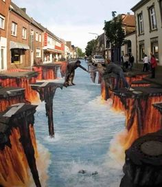 Street art - graffiti illusion by kimbery