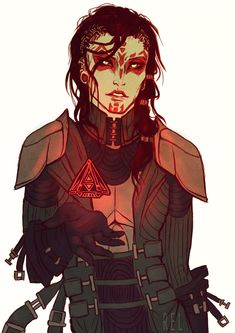 Holocron by Reliah female mysterious character with tribal make up / face tattoos lots of buckles - eye catchign outfit Character Design Animation, Fantasy Character Design, Character Design Inspiration, Character Concept, Character Art, Character Ideas, Star Wars Characters Pictures, Dnd Characters, Fantasy Characters