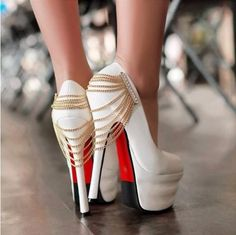 White Chained Shoes