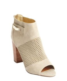 DV by Dolce Vita nude faux suede perforated detail 'Marana' ankle boots