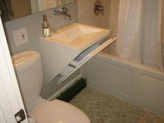 Cool concrete sink.
