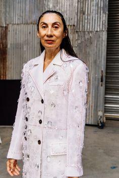 New York Fashion, High Fashion, Nyfw Street Style, Scene Photo, Ulla Johnson, Thom Browne, Chef Jackets, Tory Burch, Runway