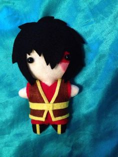 Avatar The Last Airbender Plush  Zuko  MADE TO ORDER by ChibiChain
