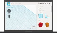 Tinkercad The easiest, fiercest 3D design tool around. Tinkercad is a free, easy-to-learn online app anyone can use to create and print 3D models.  Start Tinkering now
