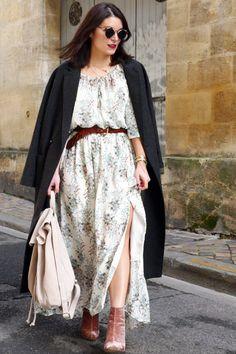 """Découvrez la """"IKKS - Robe longue imprimée femme"""" sur l'influenceuse"""
