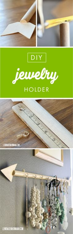 This DIY Arrow Jewelry Holder is sure to point you in the right direction of inspiring crafts. Not only is it surprisingly easy to make this homemade storage solution for yourself—thanks to supplies f
