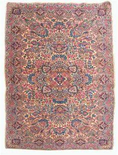 Laver Kerman rug   southeast persia, circa 1920   6 ft. 7 in. x 4 ft. 1 in.  - FREEMAN'S