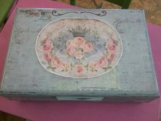 Keepsake box from old silverware box, made by me.