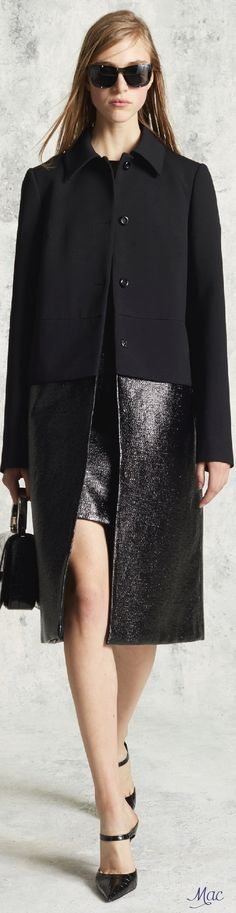 Pre-Fall 2016 Michael Kors. Hey - that's my coat from ByMaleneBirger some 5 years ago... Funny how ideas travel.