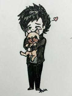 Billie Joe and his pup, Mojo