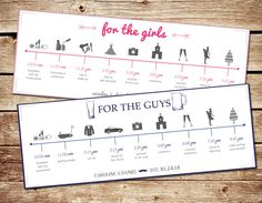On a wedding weekend that has so much going on, provide a timeline for all of your girls in your bridal party! That way no one is late for their