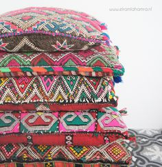 Moroccan vintage Berber pillows http://www.elramlahamra.nl/component/virtuemart/woonaccessoires/berber-kussens.html?Itemid=0