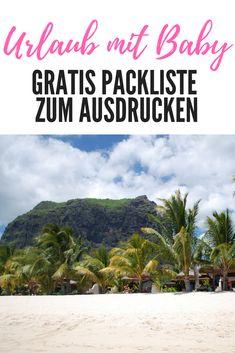 Urlaub mit Kindern: Gratis Packliste zum Ausdrucken für das Reisen mit Baby. Tipps und Ideen zum Packen für stressfreies Verreisen auf Mama Blog www.ineedsunshine.de