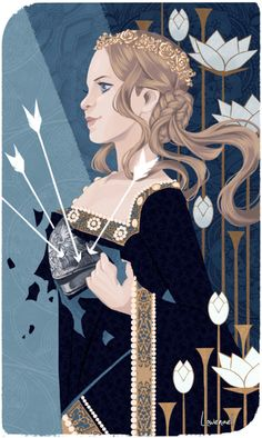 """fenderlove: """"""""A Warden first, a Queen second!"""" So many thanks to Lowenael ( @needapotion ) for this stunningly beautiful tarot card of my Warden Queen, Gloriana Cousland. It's just more than I could have ever hoped for, and it works as a perfect..."""