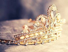 ♥ Bling Bling Crown with Pearls & Diamonds ♥