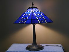 Stained Glass Lamp  Tiffany Style by SandECollectibles on Etsy, $125.95