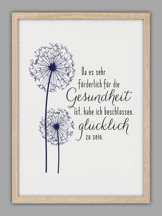 """""""GLÜCKLICH"""" Kunstdruck von Smart-Art Kunstdrucke auf DaWanda.com"""