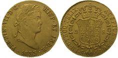 Spanien Ferdinand VII. 1808-1833. 2 Escudos  Gold 1833 S Vorzüglich +