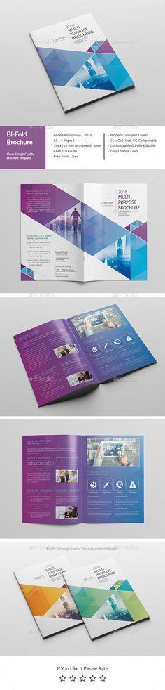 Corporate Bi-Fold Brochure Template PSD. Download here: http://graphicriver.net/item/corporate-bifold-brochure-04-/15018098?ref=ksioks
