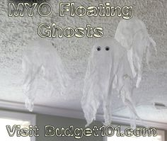 Budget101.com - - Friendly Floating Ghosts | Homemade Ghosts | How to Make Ghosts