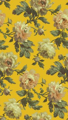 Peoneden Ochre (H1404-4) - House Of Hackney Wallpapers - A stunning peony rose design – shown in the beautiful Ochre yellow colourway. Please ignore dimensions below – the actual dimensions of this stunning digital wallpaper are: W180cm x H 300cm. The single roll comprises of 4 x 3m lengths, each 45cm wide. Wall coverage per roll is 5.4 m2 Paste the wall product