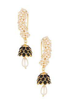 Gold Solid Alloy Earrings by The Velvet Box, Earrings