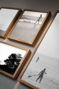Black and whites w/ wood frames