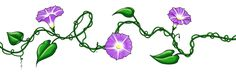 Morning Glory Vine Tattoo Design Ankle