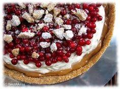 Puoloffee-piiras | Lingonberryoffee. Like banoffee, but with lingonberries. (Kinuskikissa – Suomen suosituin leivontayhteisö)