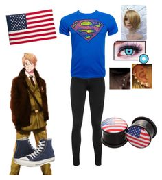 """""""punk america"""" by cotton-candy-girl ❤ liked on Polyvore featuring rag & bone, Converse, Evergreen Enterprises, america, Punk and Hetalia"""
