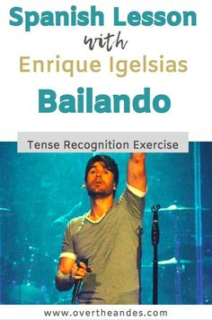 Use the song Bailando by Enrique Iglesias with more mature students to show verb tense endings. Enrique Iglesias's Bailando utilises various verbs and endings making it a good one for language through music exercises. Check out this post for lesson ideas. Spanish Tenses, Spanish Songs, Spanish Worksheets, Ap Spanish, Spanish Vocabulary, Spanish Activities, Learn To Speak Spanish, Learn Spanish Online, French Lessons