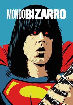 Famous Guitarists and Singers Turned into Super Heroes – Fubiz Media Jimi Hendrix, Comic Books Art, Comic Art, Pop Art Movement, Music Illustration, Music Artwork, Ad Art, Arte Pop, Ramones