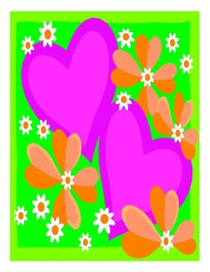 Heart and Flowers-Digital Download-ClipArt-ArtClip